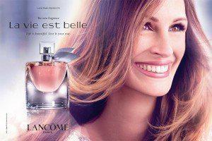 Lancome La Vie est Belle perfume ad